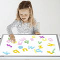 Rainbow Letters Pack of 26,light box sensory resources,classroom numeracy resources,early years literacy resources